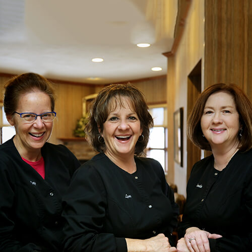 Picture of our Fox Valley Dental frontdesk staff