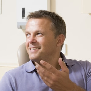 Cosmetic Dentistry patient asking questions about inlays and onlays