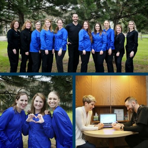 Montage of Fox Valley Dental team.