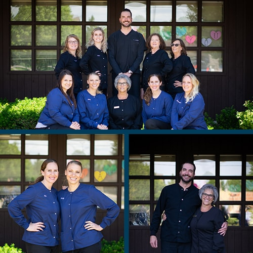 Montage of the Fox Valley Dental team, who specialize in Root Canals
